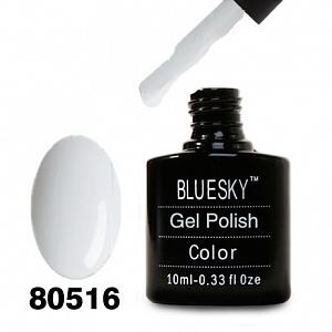 картинка Гель лак Bluesky 80516-Ультра белый плотный магазин Gumla.ru являющийся официальным дистрибьютором в России