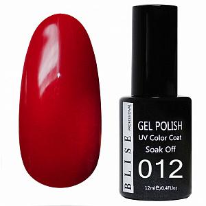 картинка Гель-лак BLISE 012- Красный классический, плотный магазин Gumla.ru являющийся официальным дистрибьютором в России