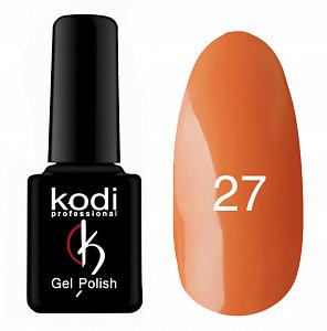 картинка Гель- лак Kodi - №027-Оранжевый эмаль 8ml магазин Gumla.ru являющийся официальным дистрибьютором в России