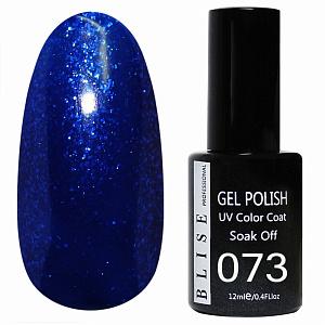 картинка Гель-лак BLISE 073- Темно-синий с синими блестками магазин Gumla.ru являющийся официальным дистрибьютором в России