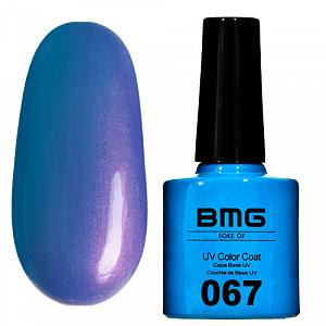 картинка Гель-лак BMG - Голубой с сине-фиолетовым микроблеском магазин Gumla.ru являющийся официальным дистрибьютором в России