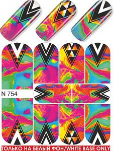 картинка Слайдер дизайн для ногтей 754 магазин Gumla.ru являющийся официальным дистрибьютором в России