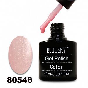 картинка Гель лак  Bluesky 80546-Телесно-розовый с микроблеском магазин Gumla.ru являющийся официальным дистрибьютором в России