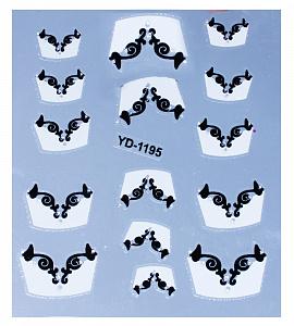 картинка Наклейки на ногти 1195 магазин Gumla.ru являющийся официальным дистрибьютором в России