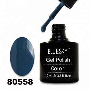 картинка Гель лак  Bluesky 80558-Темно-голубой,плотный магазин Gumla.ru являющийся официальным дистрибьютором в России
