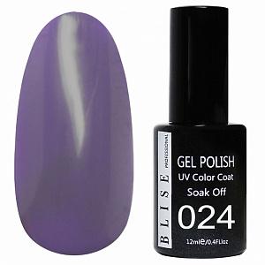картинка Гель-лак BLISE 024- Фиолетовый, плотный магазин Gumla.ru являющийся официальным дистрибьютором в России