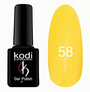 картинка Гель- лак Kodi - №058-Желтый 8ml магазин Gumla.ru являющийся официальным дистрибьютором в России