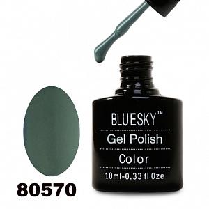 картинка Гель лак  Bluesky 80570-Темно-оливковый,плотный магазин Gumla.ru являющийся официальным дистрибьютором в России