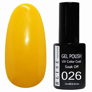 картинка Гель-лак BLISE 026-Темно-желтый, плотный магазин Gumla.ru являющийся официальным дистрибьютором в России