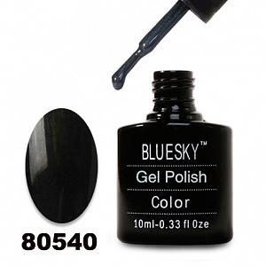 картинка Гель лак  Bluesky 80540-Темно-серый,стальной с микроблеском магазин Gumla.ru являющийся официальным дистрибьютором в России