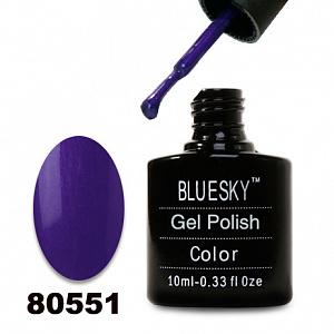 картинка Гель лак  Bluesky 80551-Темно-сиреневый,перламутровый магазин Gumla.ru являющийся официальным дистрибьютором в России