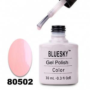 картинка Гель лак  Bluesky 80502-Светло-розовый полупрозрачный с неоновым отливом магазин Gumla.ru являющийся официальным дистрибьютором в России