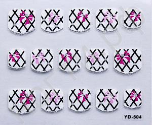 картинка Наклейки на ногти 504 магазин Gumla.ru являющийся официальным дистрибьютором в России