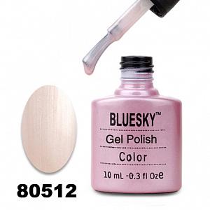 картинка Гель лак  Bluesky 80512-Светло-розовый,жемчужный,перламутровый магазин Gumla.ru являющийся официальным дистрибьютором в России