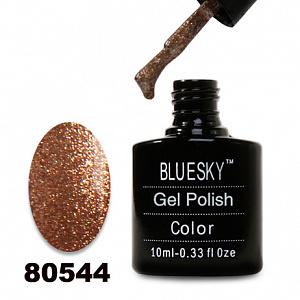 картинка Гель лак  Bluesky 80544-Золото с мелкой золотой слюдой магазин Gumla.ru являющийся официальным дистрибьютором в России