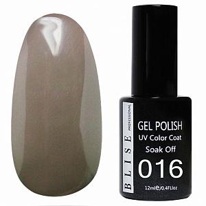 картинка Гель-лак BLISE 016- Коричнево-серый, плотный магазин Gumla.ru являющийся официальным дистрибьютором в России